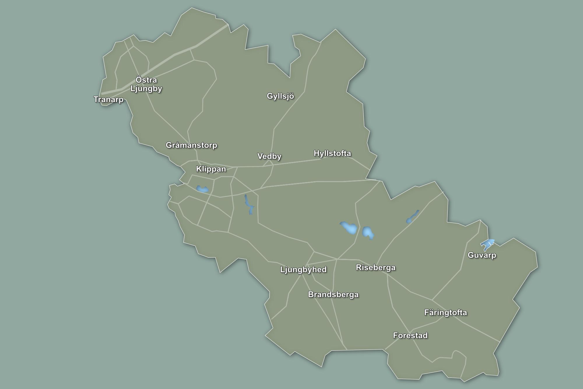 klippans kommun karta